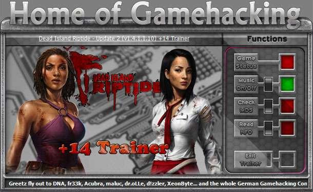 Dead Island: Riptide v1.4.0-v1.4.1.1.10 +14 Trainer [HoG]