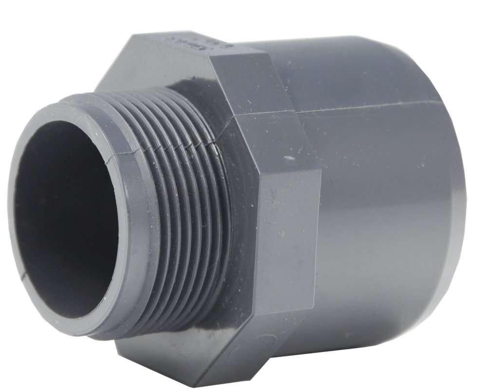 Embout pvc 50 63 x 1 1 2 fmm pression piscine arrosage for Pvc pression piscine