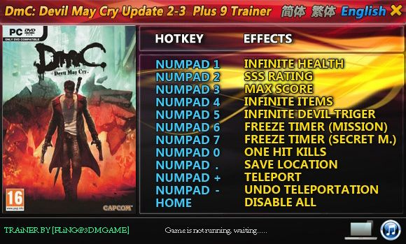 DmC: Devil May Cry [Update 2-Update 3] +9 Trainer [FliNG]