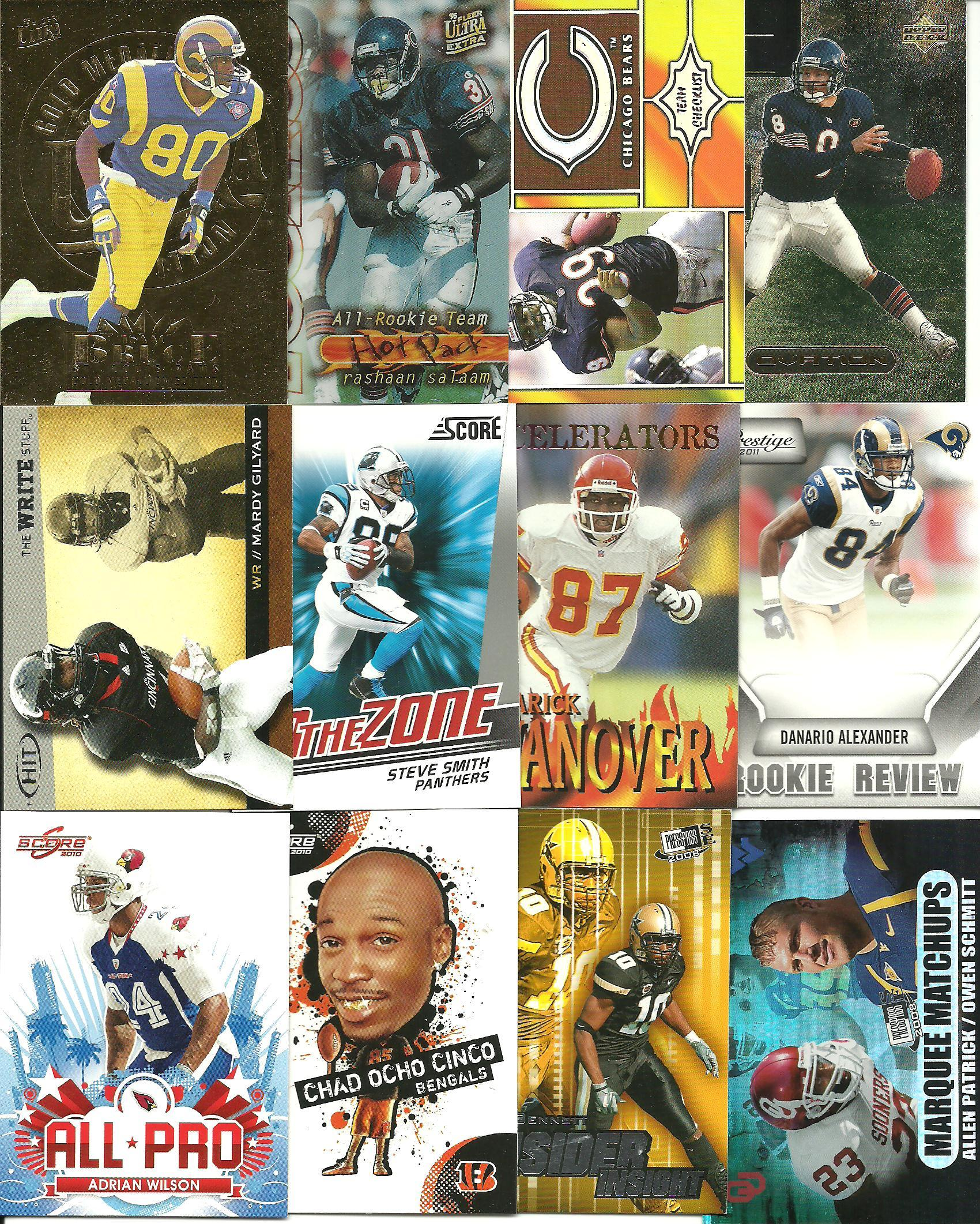 HUGE (1380) Sports Card Collection Lot  Jersey Auto RC #d 115 Pics