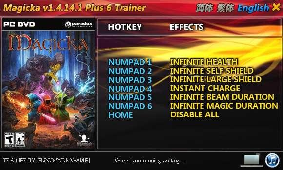 Magicka 1.4.14.1 +6 Trainer [FliNG]