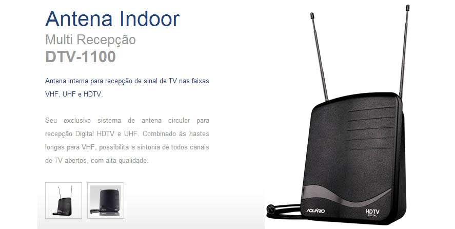 Antena para TV Digital Aquário - Uso interno - HDT