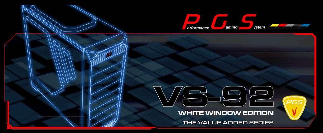 Gabinete AeroCool VS-92 White Window Edition - USB