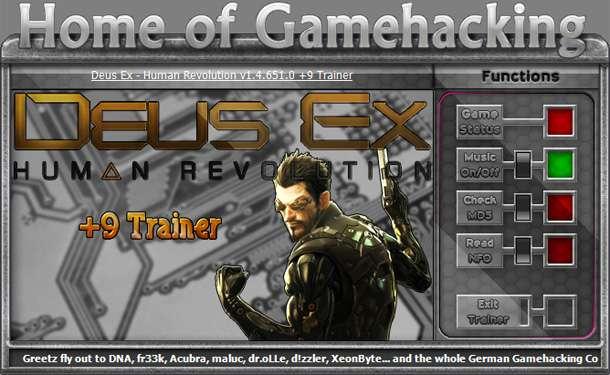 Deus Ex: Human Revolution 1.4.651.0 +9 Trainer [HoG]