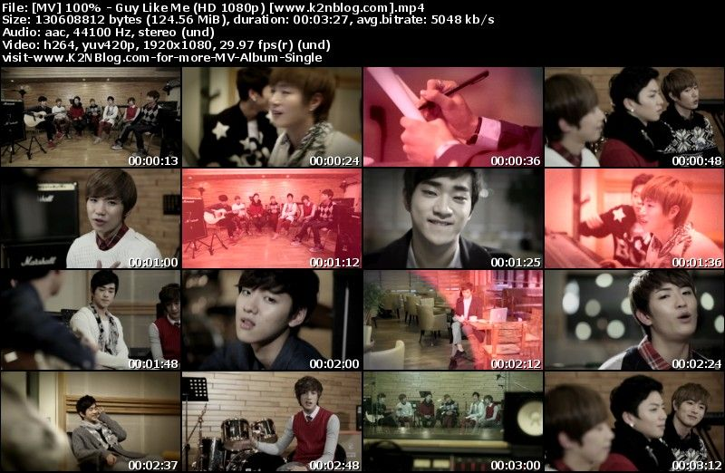 [MV] 100% - Guy Like Me (HD 1080p Youtube)